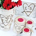Romantic Carved Initials Gift