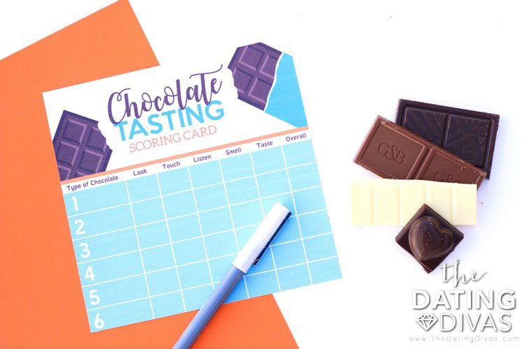 Chocolate Tasting Scoring Card