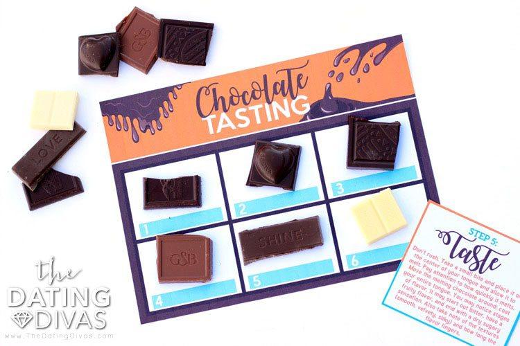 Chocolate Tasting Printable Mat