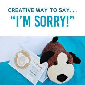 Creative Way to Say Sorry