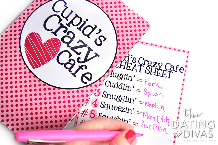 Cupid's Crazy Cafe Cheat Sheet.