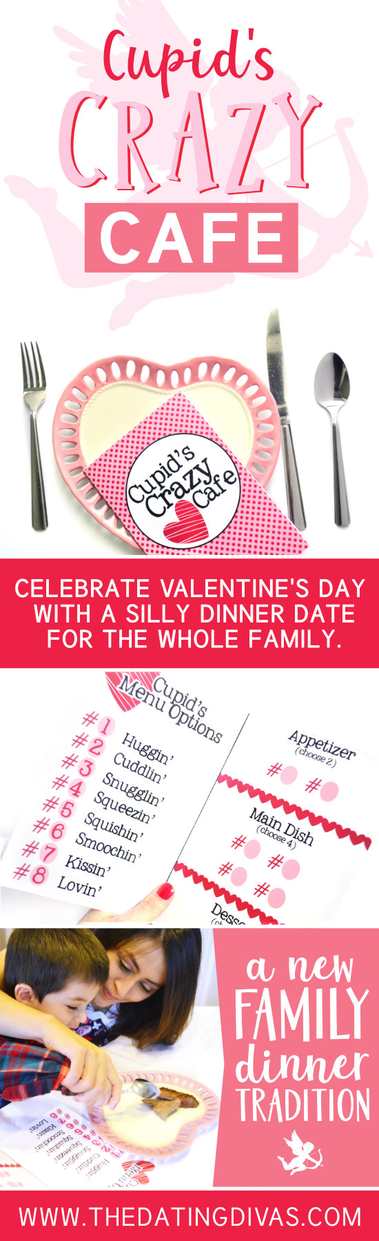 A new family tradition with this silly V-Day countdown. #VDayDinner #FamilyDinner