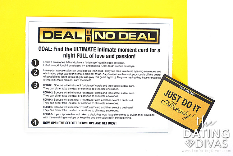 Deal or No Deal Instructions