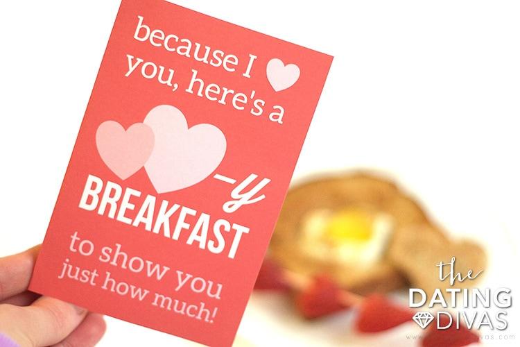 Valentine's Day Breakfast Card