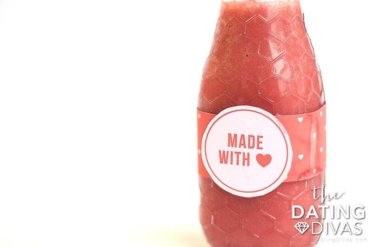 Healthy Valentine's Day Breakfast Smoothie