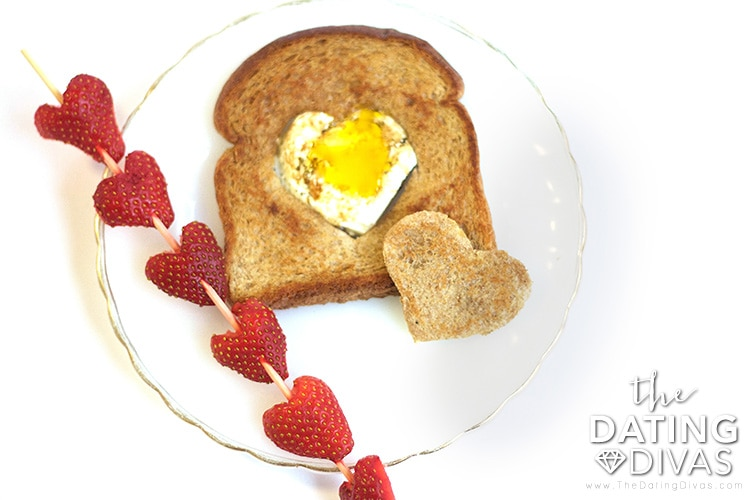 Strawberry Kabob and Heart Egg Toast