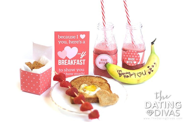Valentine's Day Breakfast in Bed