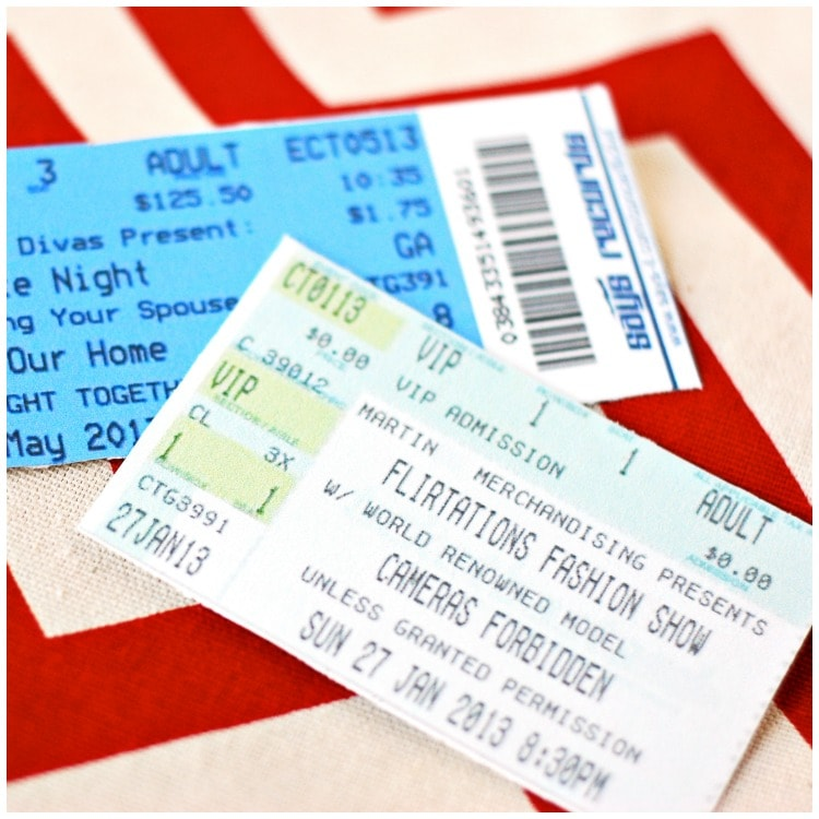 Make Your Own Event Tickets for Your Next Date Night – Make Your Own Concert Ticket