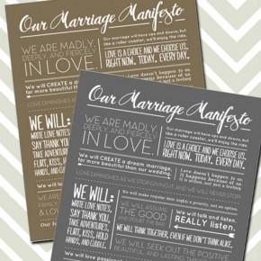 Marriage Manifesto