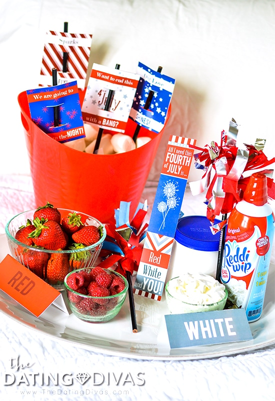 Red, White and You Bedroom Date