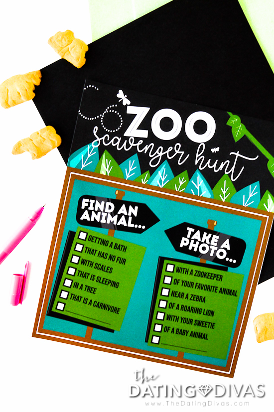 Safari Theme Zoo Scavenger Hunt