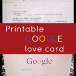 Printable Google Card