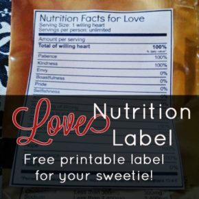 love-nutrition-label