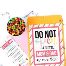 Kid Date Night Envelope Skittles