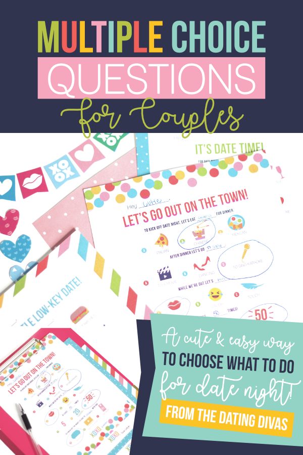 Plan a last minute date right now! Grab these free printables and go on a super fun, easy date with your sweetie! #questionsforcouples #easydateideas #datingdivas