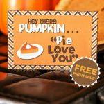 Pumpkin Pie Love Note
