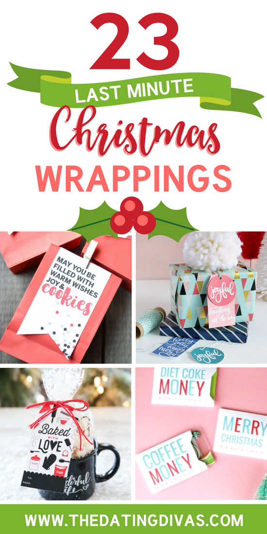 Last Minute Christmas Wrappings #lastminutechristmasgifts #lastminutegiftideas