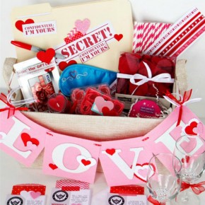 Valentine's Day Date Basket
