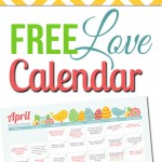Free April LOVE Calendar