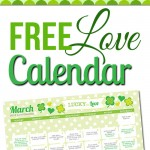 Free March LOVE Calendar