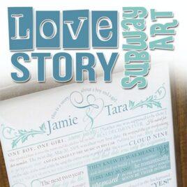 Love Story Subway Art