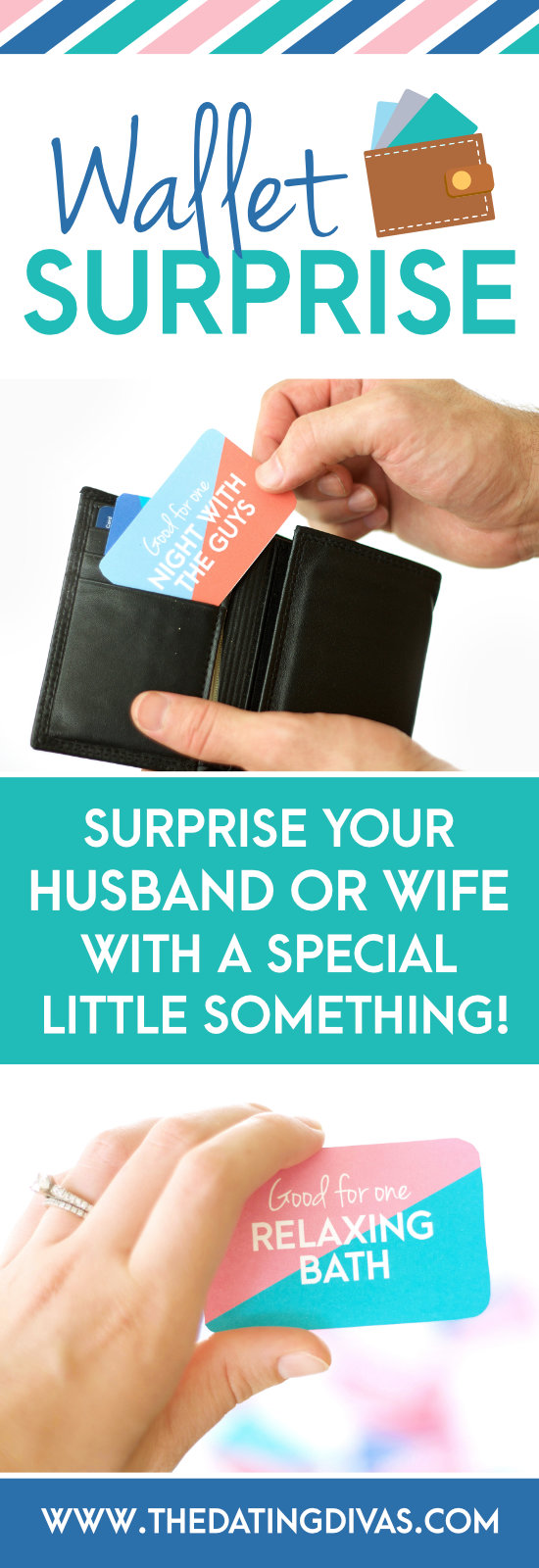 Surprise your husband or wife with special wallet size coupons. #giftforhim #giftforher #coupons