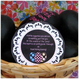 Chalkboard Message Eggs