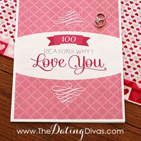 Pink Cover of 100 reasons why I love you diy printable book with wedding ring