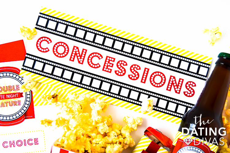 Double Feature Concessions Sign