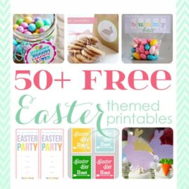50+ FREE Easter Printables poster