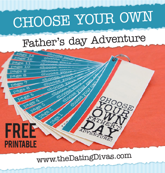 Printable Choose Your Own Father's Day Adventure