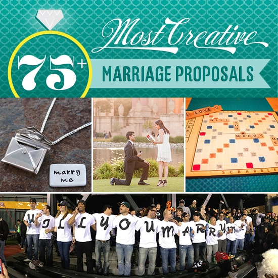 75+ Most Creative Marriage Proposals