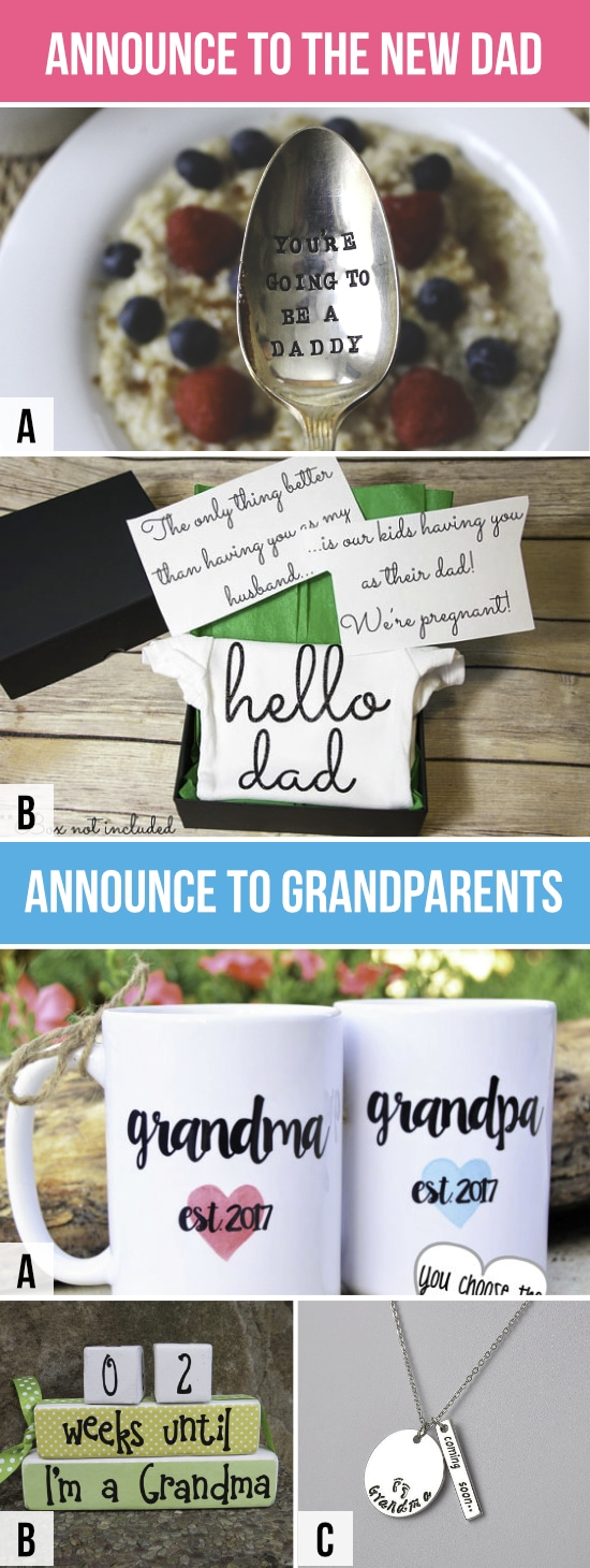 Pregnancy Announcements To Dad