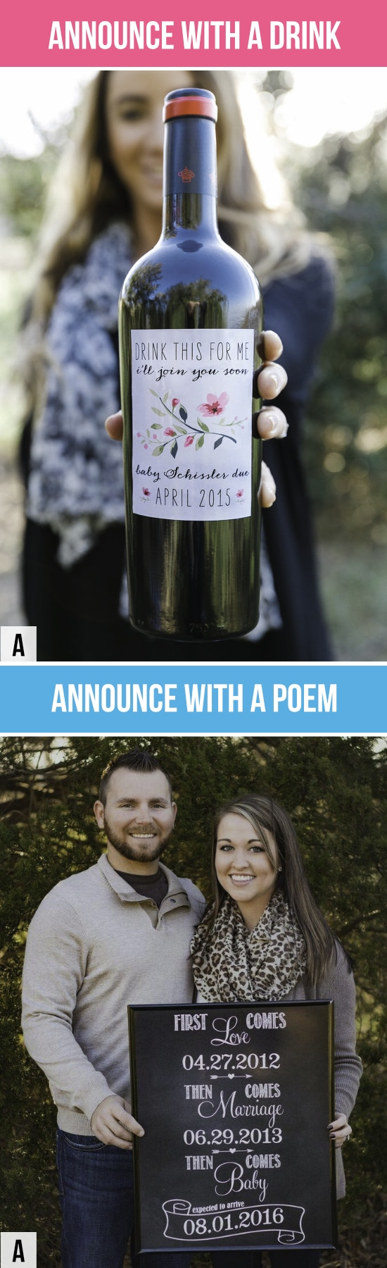 Pregnancy Announcements with a Drink