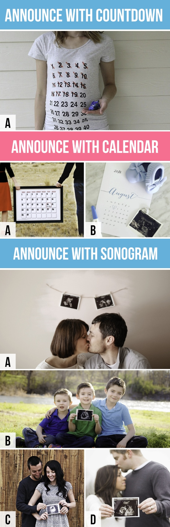 Pregnancy Announcements with Calendar