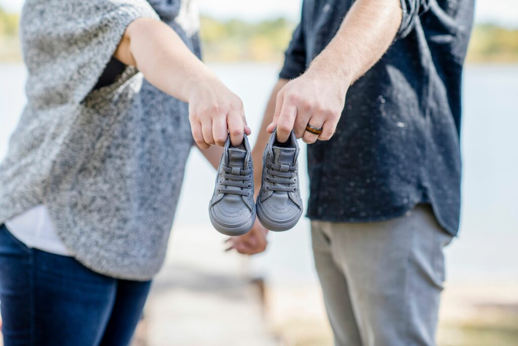Pregnancy Announcement Idea with Shoes
