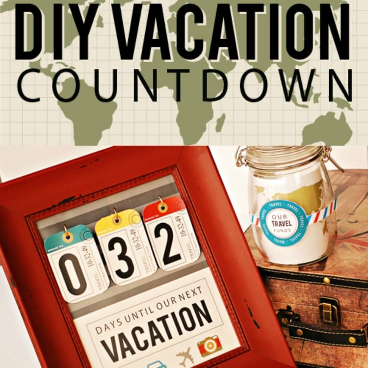image relating to Vacation Countdown Calendar Printable called Do it yourself Holiday Countdown