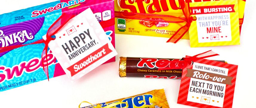 Anniversary Candy Bar Love Notes