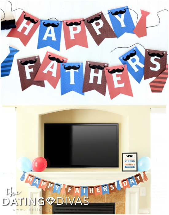 Happy Father's Day Banner and Decorations