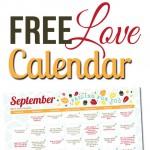 Free September LOVE Calendar