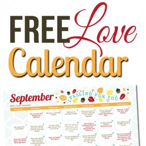 Free Printable September Love Calendar-