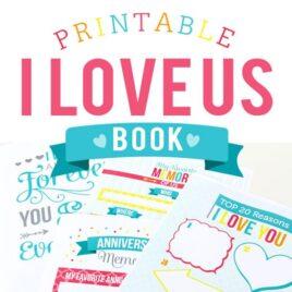 Printable I Love Us Book