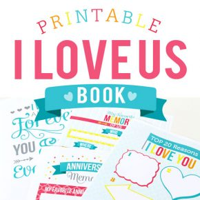 Printable I Love Us Book