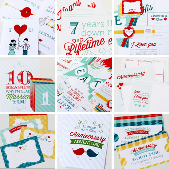 printable anniversary ideas