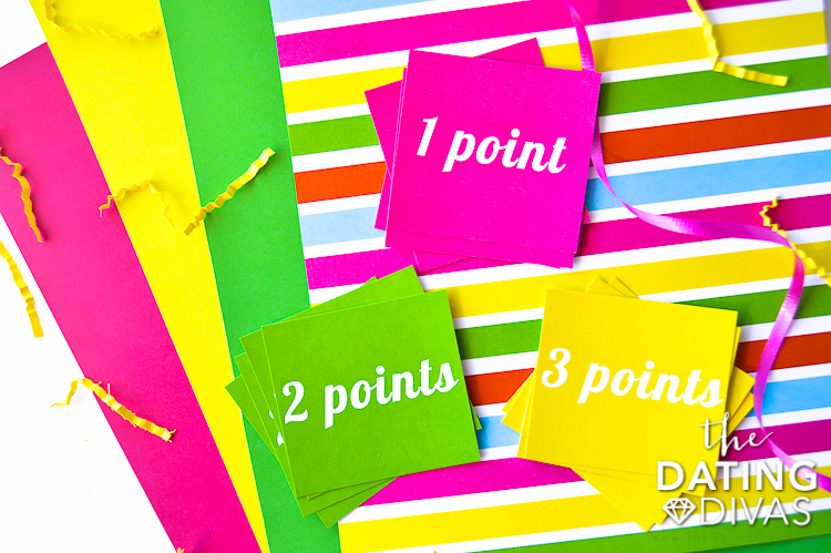 Pointcards for Water Balloon Games for Adults