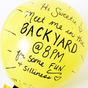 Water Balloon Basketball- fun Summer Date Idea