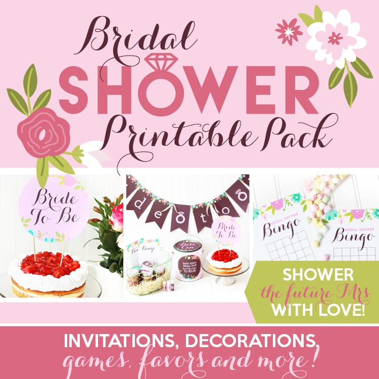 Adorable Bridal Shower Decoration Ideas & Printable Pack