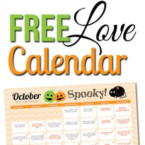 Free October Romance Calendar