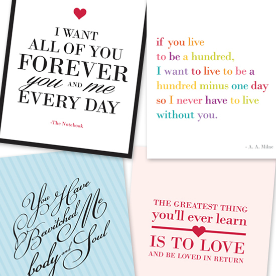 Printable Love Quotes Interesting Top 10 Love Quotes