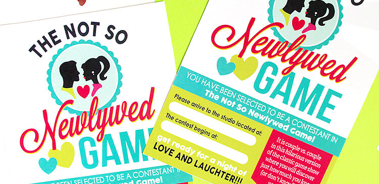 Fun Dating Game Invitations
